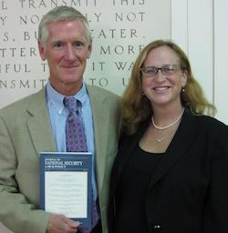 INSCT Director William C. Banks and Laura Donohue of Georgetown Law formalized their collaboration on the production of JNSLP in 2012.